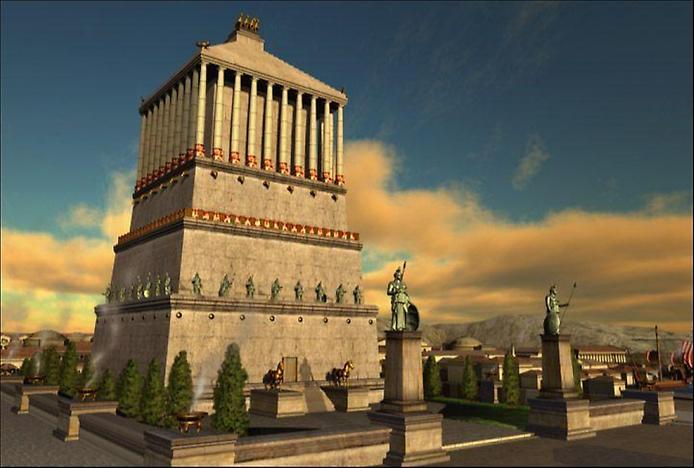 Пятое чудо света - это мавзолей в галикарнасе